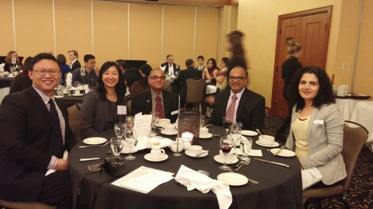 Oakville Chapter AGM (Jan 25) with Jeffrey Lee (GLP Chair), Jeannette Chau (Manager, GLP), Mukul Asthana, Fred Datoo and Parisa Zoghi (Education Outreach Coordinator)